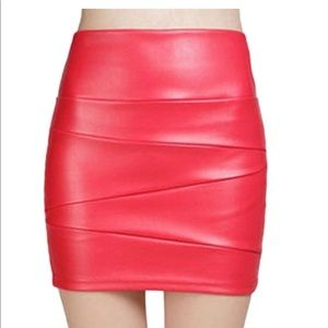 Dresses & Skirts - Vegan Leather Mini Skirt❤️
